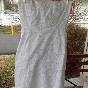 Strapless Lilly pulitzer lace dress.